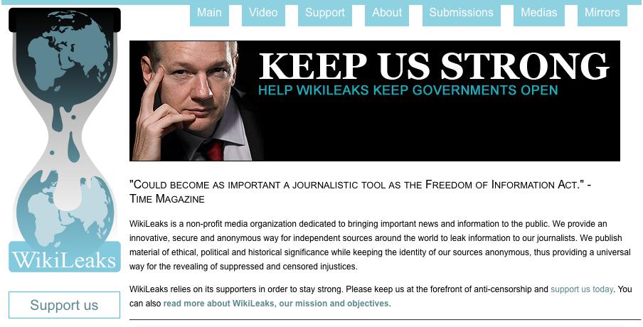 wikileaks julian assange screenshot