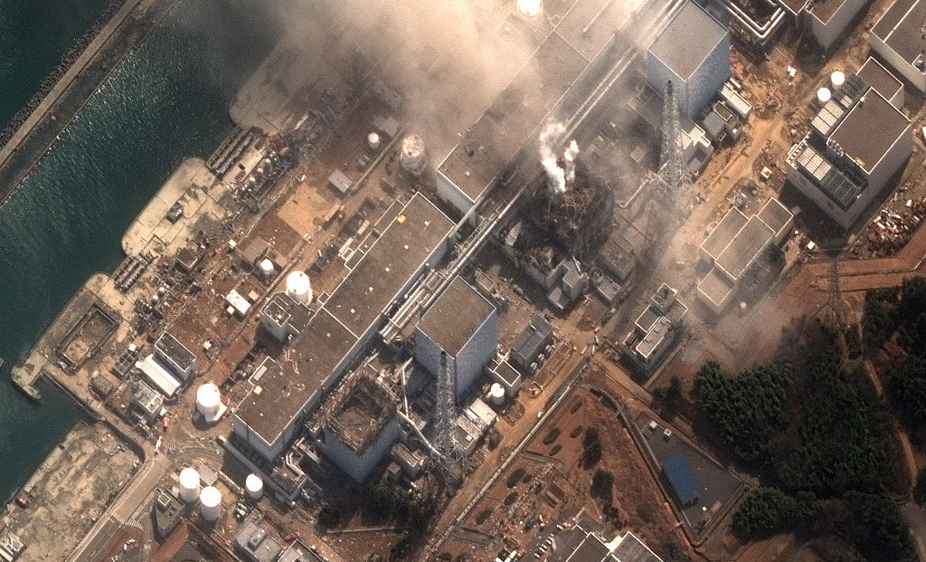 Fukushima Dai Ichi Power Plant, Japan (credit: DigitalGlobe) (cc)