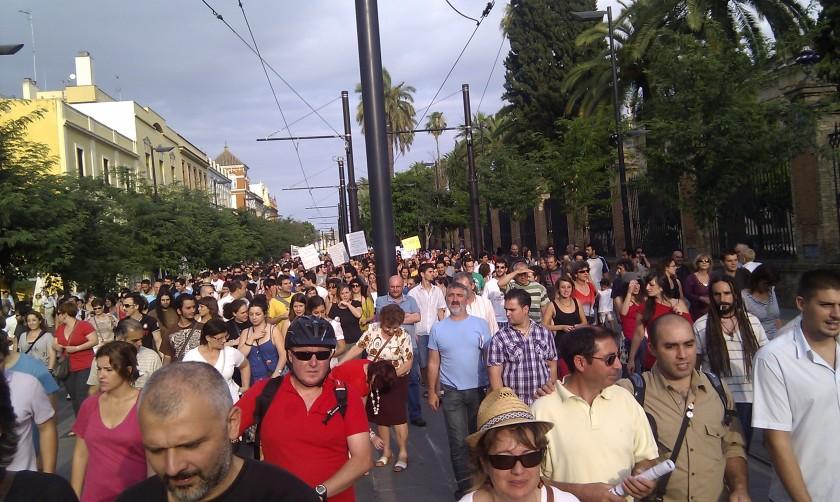 #spanishrevolution in sevilla am 20110529 - foto: maria amancay jenny colombo