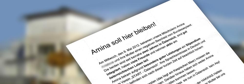 amina aufruf der mitschülerinnen