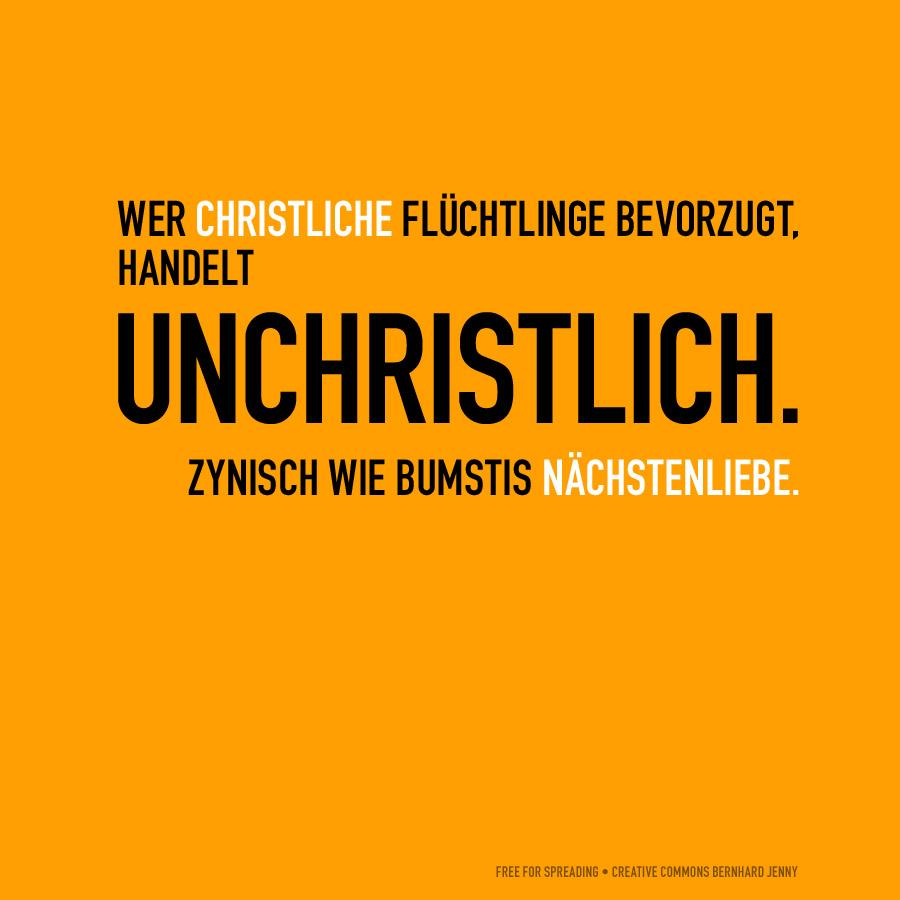 unchristlich by bernhard jenny (creative commons)