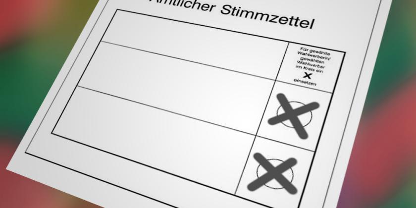 stimmzettel mit stimmensplitting grafik bernhard jenny
