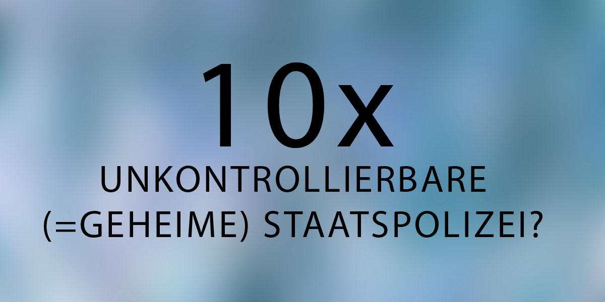 entsteht 10fache unkontrollierbare STAPO?