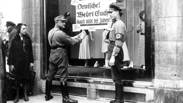 Berlin, NS-Boykott gegen j¸dische Gesch‰fte
