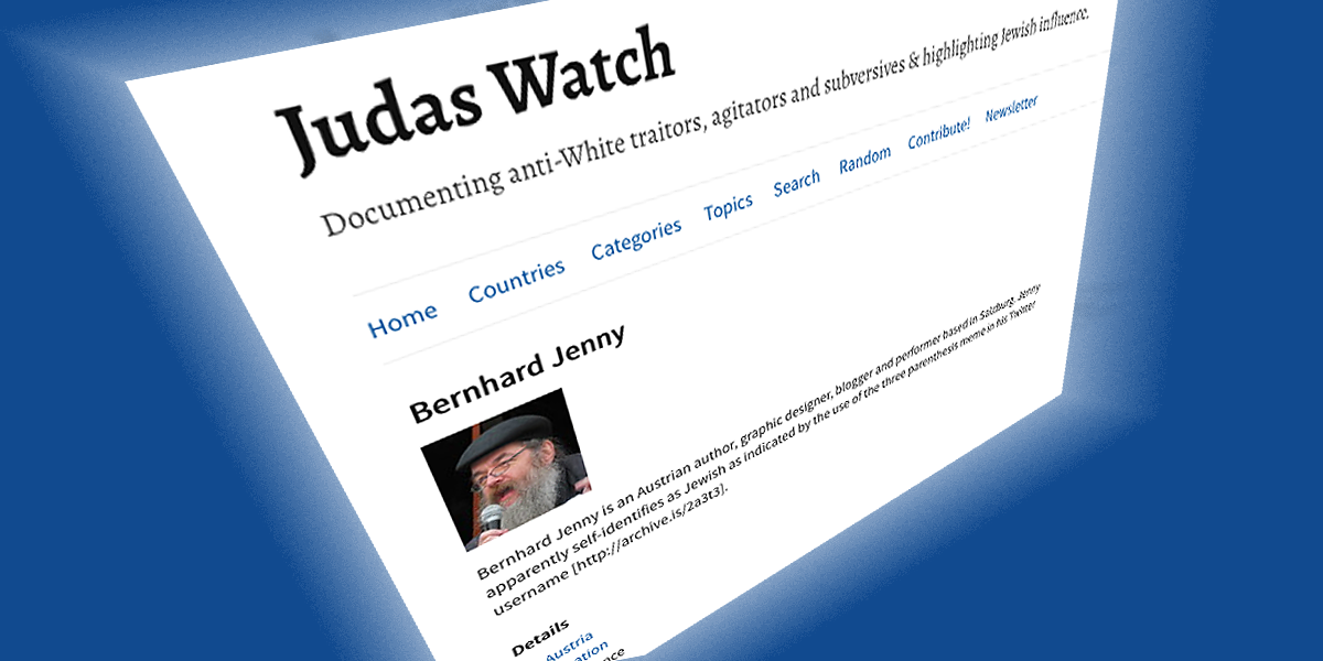 """antisemitische hetzseite """"judas watch"""" stellt mich in gutegesellschaft"""